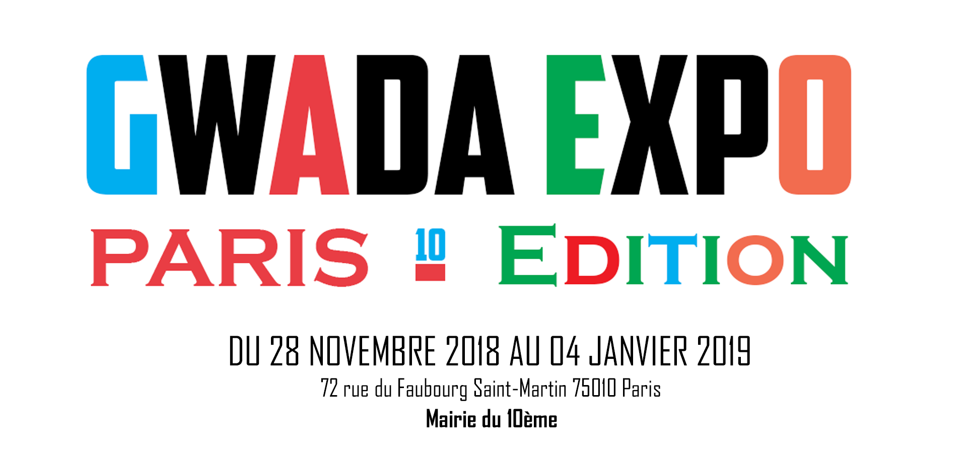 Gwada expo / Paris edition 28 novembre 2018 au 4 janvier 2019